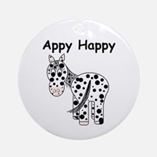 Appy Happy, Leopard Appaloosa Ornament (Round)