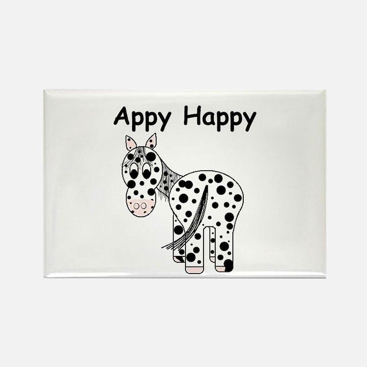Appy Happy, Leopard Appaloosa Rectangle Magnet