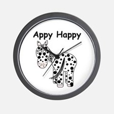 Appy Happy, Leopard Appaloosa Wall Clock