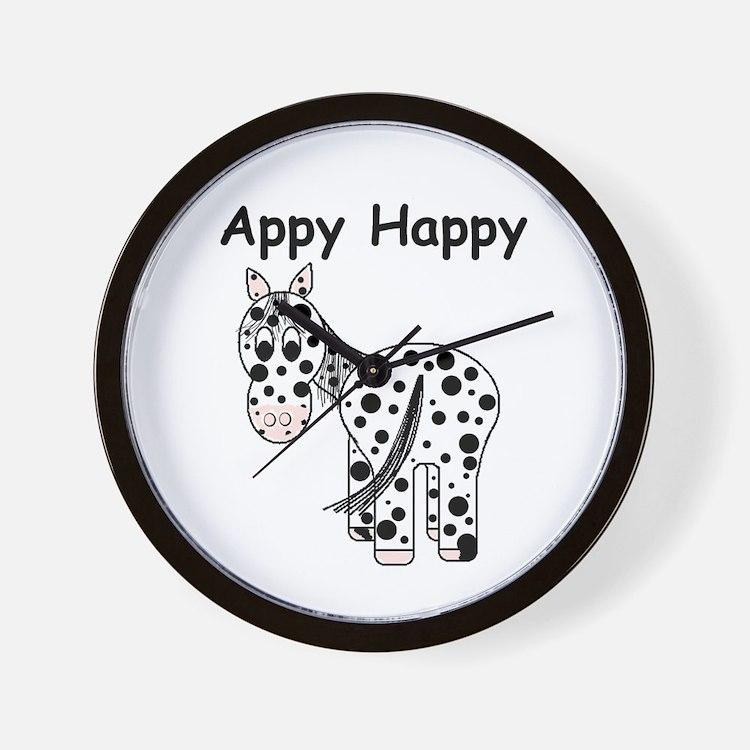 Appy Happy, Leopard Appaloosa Wall Clock