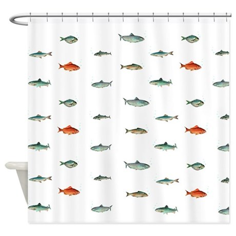 Nautical Ocean Fish Shower Curtain By Inspirationzstore