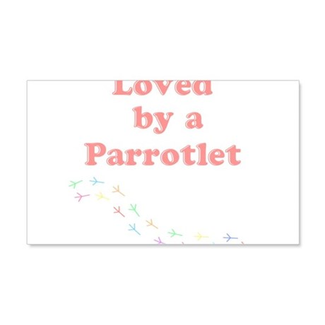 Loved by a Parrotlet 20x12 Wall Decal