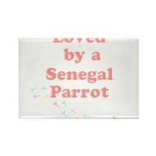 Loved by a Senegal Parrot Rectangle Magnet