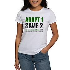 adopt 1 Save 2 cats Tee