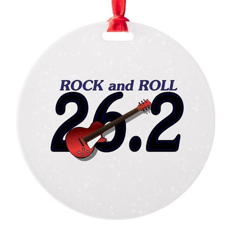 Rock and Roll MArathon Round Ornament