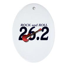 Rock and Roll MArathon Ornament (Oval)