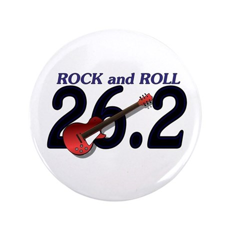 """Rock and Roll MArathon 3.5"""" Button (100 pack)"""