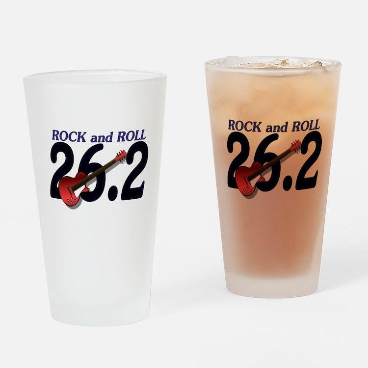 Rock and Roll MArathon Drinking Glass