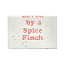 Loved by a Spice Finch Rectangle Magnet