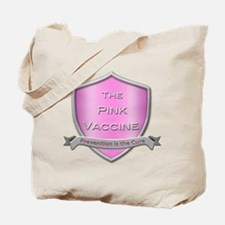 The Pink Vaccine Shield Tote Bag