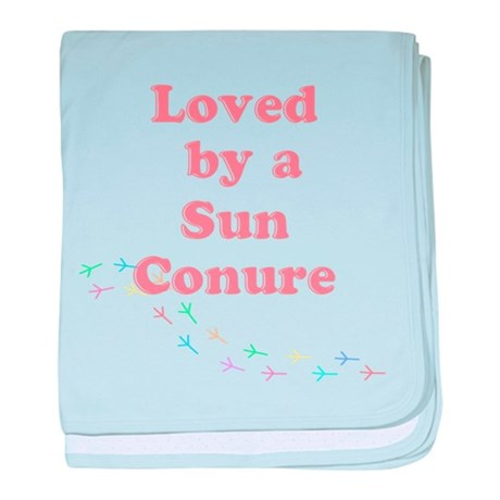 Loved by a Sun Conure baby blanket