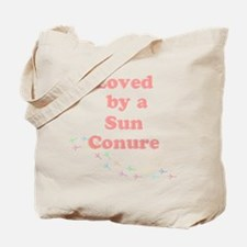 Loved by a Sun Conure Tote Bag