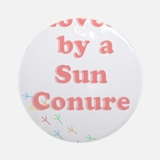 Loved by a Sun Conure Ornament (Round)
