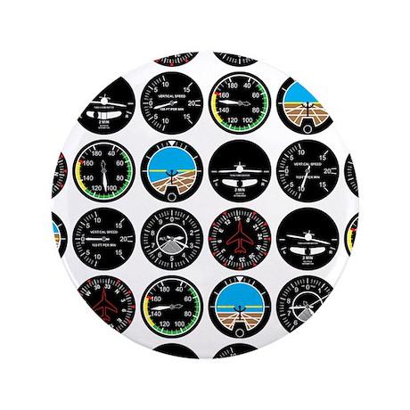 "Flight Instruments 3.5"" Button (100 pack)"