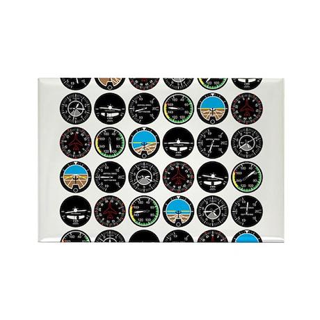 Flight Instruments Rectangle Magnet (10 pack)