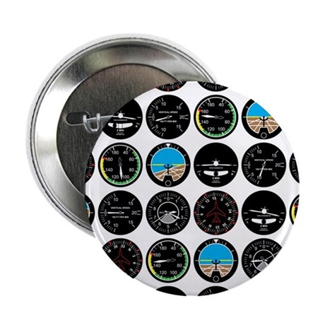 "Flight Instruments 2.25"" Button (100 pack)"