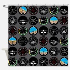 Flight Instruments Shower Curtain