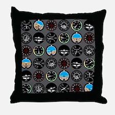 Flight Instruments Throw Pillow