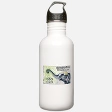 Laos Elephant Profile Stamp 1958 Water Bottle