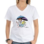 """Rainy Day"" Women's V-Neck T-Shirt"