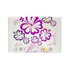 OYOOS Love You Flower design Rectangle Magnet
