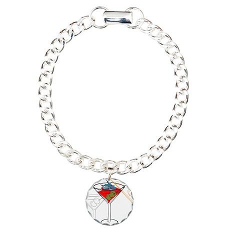 OYOOS Fun Shark Martini design Charm Bracelet, One