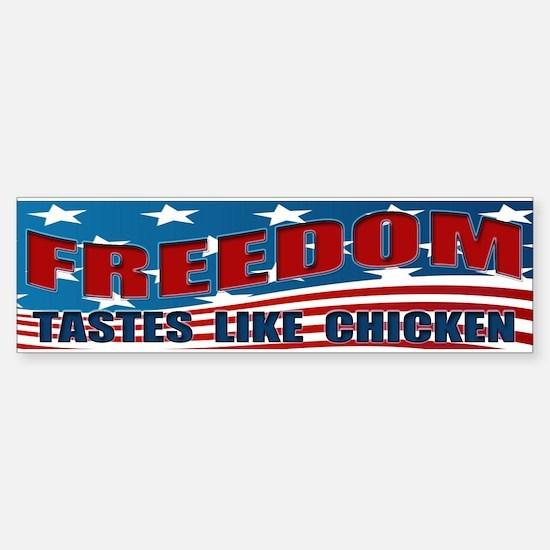 FREEDOM TASTES LIKE CHICKEN Sticker (Bumper)
