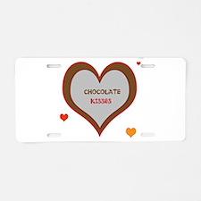 OYOOS Chocolate Heart design Aluminum License Plat