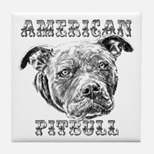 American Pitbull Tile Coaster