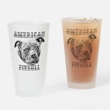 American Pitbull Drinking Glass