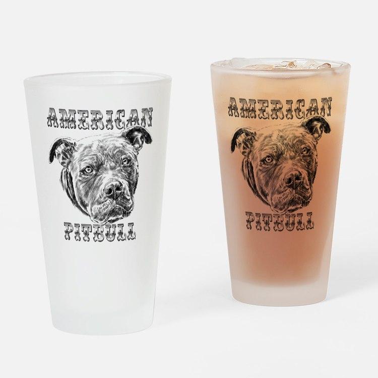 American Pitbull Drinking Glass