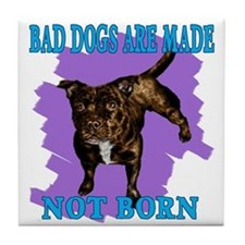 bad dogs Tile Coaster