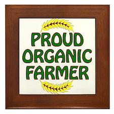 Proud organic Farmer Framed Tile
