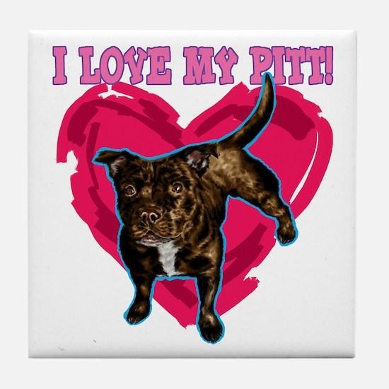 love my pitt Tile Coaster