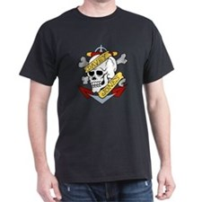 Davy Jones Pirate Insignia Black T-Shirt