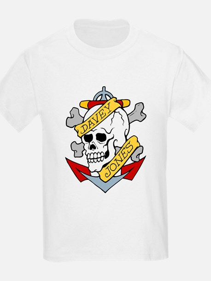 Davy Jones Pirate Insignia Kids T-Shirt