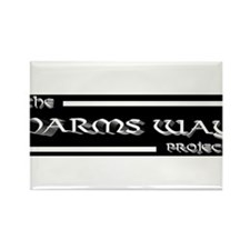 Harms Way Logo Rectangle Magnet
