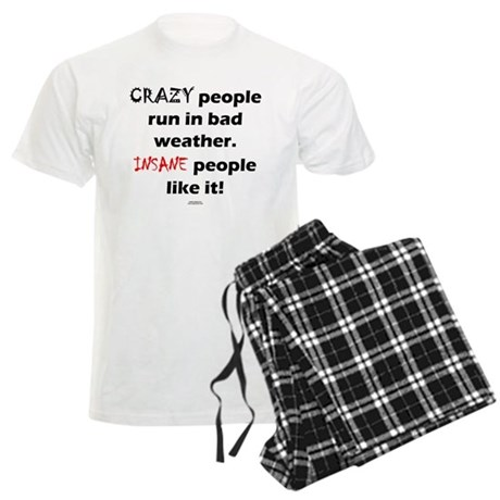 CRAZY people - INSANE people.png Men's Light Pajam