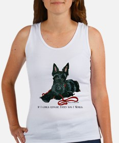Scottish Terrier Rescue Me Women's Tank Top