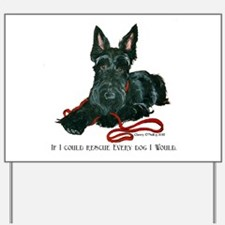 Scottish Terrier Rescue Me Yard Sign