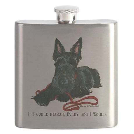 Scottish Terrier Rescue Me Flask