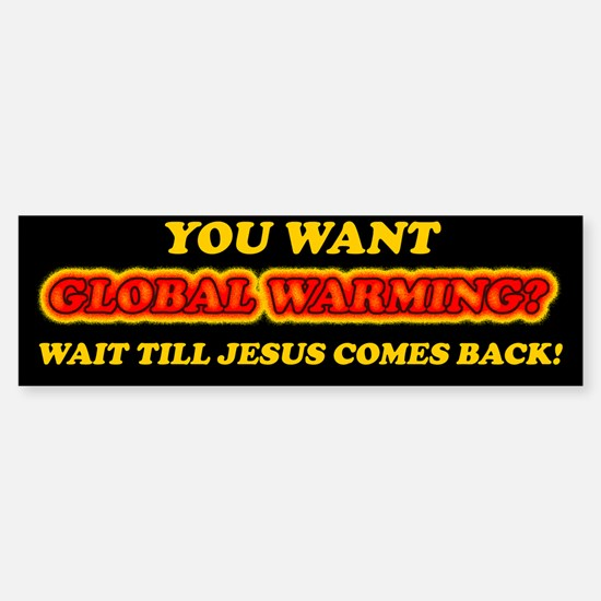 Jesus and Global Warming Sticker (Bumper)