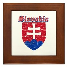 Slovakia Coat of arms Framed Tile