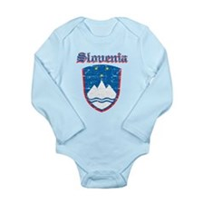 Slovenia Coat of arms Long Sleeve Infant Bodysuit