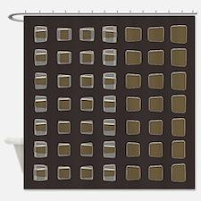 Mocha Latte Shower Curtain