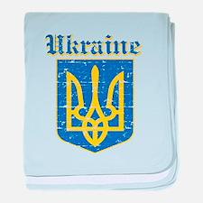 Ukraine Coat of arms baby blanket