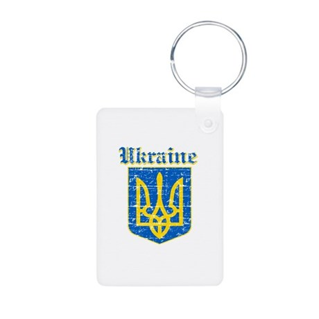 Ukraine Coat of arms Aluminum Photo Keychain