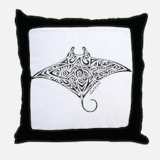 Hawaiian Manta Throw Pillow