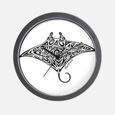 Hawaiian Manta Wall Clock