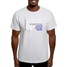 Real Athletes Run - Male T-Shirt